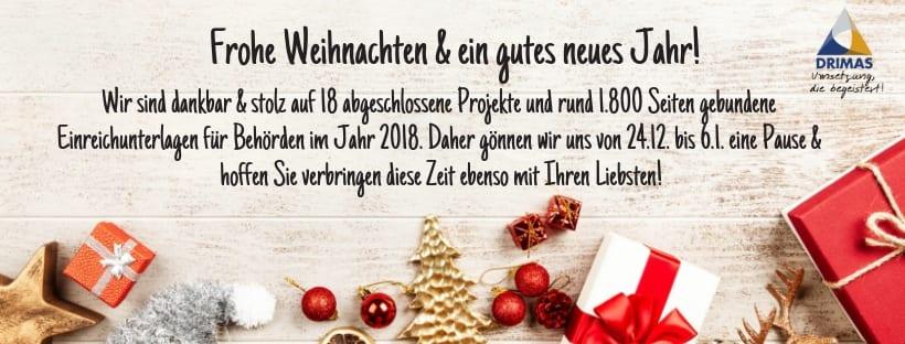 DRIMAS | Frohe Weihnachten | Kurzbilanz | Jahresrückblick