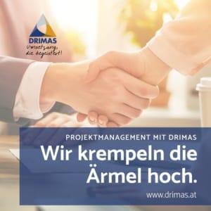 DRIMAS | Projektmanagement | Interim-Projektmanager | IPMA | Ärmel hoch