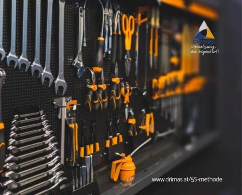 DRIMAS | Prozessoptimierung | 5S Methode | Workshop | Ingenieurbüro | Fragen | Operational Excellence | Erklärung | Anleitung
